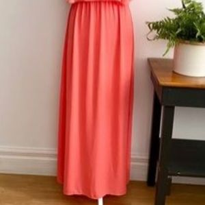 NWOT Mossimo Coral Pink Maxi Skirt Size Small